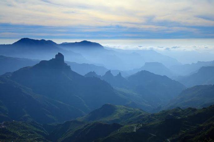 Gran Canaria, Caldera de Tejeda, mist is settling over Caldera