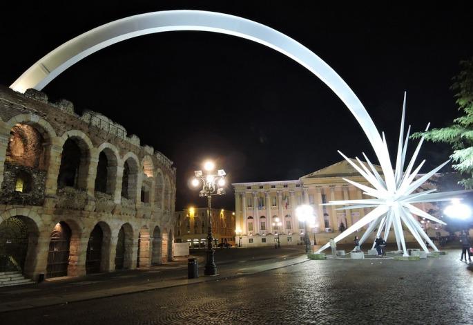 estrella de navidad en Verona
