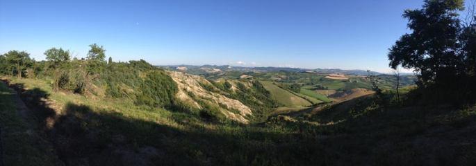 colinas alrededor de Imola