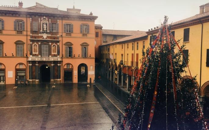 plaza Matteotti en Navidad